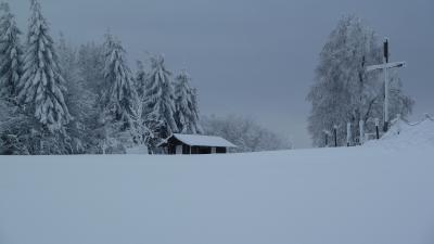 Winter auf dem Bergplateau