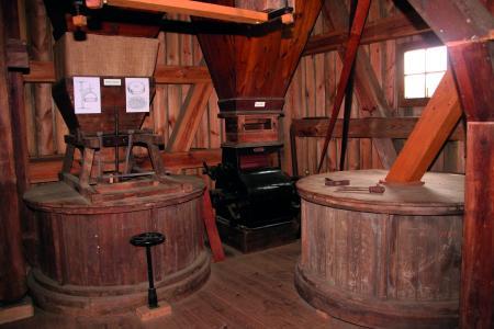 Innenraum der Mühle