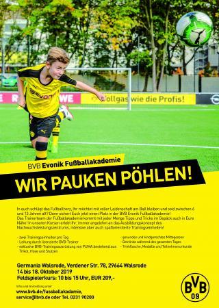 BVB Evonik Fußballakademie 2019 zu Gast bei Germania Walsrode