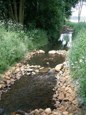 Die Dahme an der Wassermühle Prensdorf