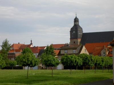 Blick auf die St. Marien Kirche
