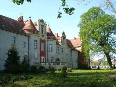 Rückansicht des Schlosses