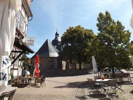 Marktplatz mit Jägerstube-Biergarten