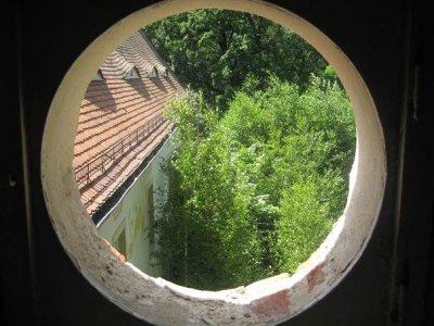 Sicht durch Rundfenster