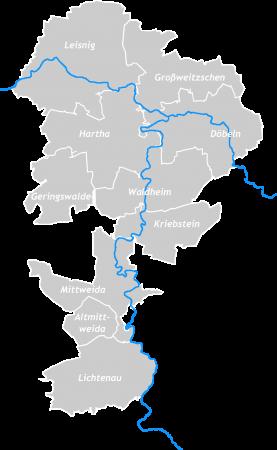 Sachsenkreuz + Karte