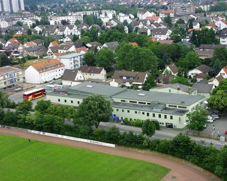 SKV Halle aus der Luft