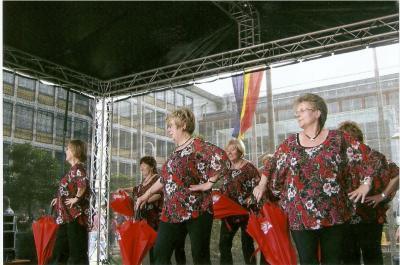Der Tanzkreis beim Auftritt
