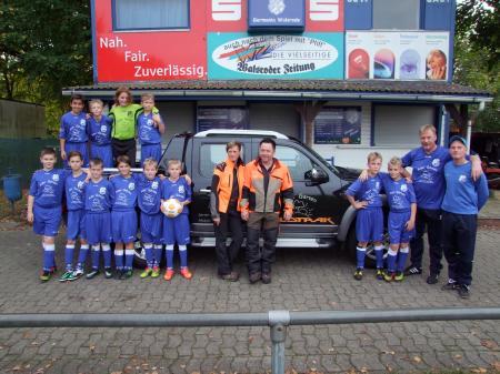U12-D2-Jugend Jg. 2003 Okt. 2014 Sponsor Trikot Alex Tykwer