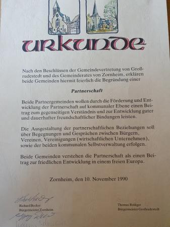 Urkunde Zornheim
