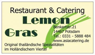 Thai Restaurant LemonGras Potsdam - Restaurant & Catering Benkertstr.21 14467 Potsdam Holländer Viertel www.thairestaurantpotsdam.de