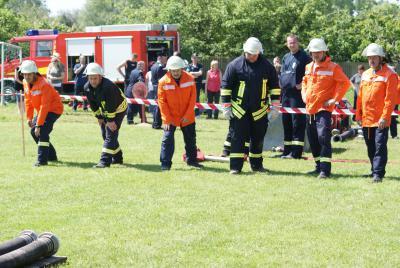 Männermannschaft Jännersdorf beim Amtswehrtreffen 2010