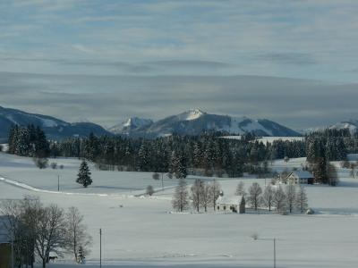 Blick vom Hohenberg im Winter
