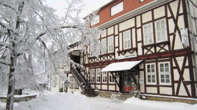 Jägerstube Dankerode im Winter