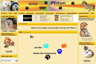 Vorschau:www.meine-vier-pfoten.de