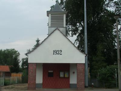 Baujahr des Gerätehauses mit Glockenturm: 1932