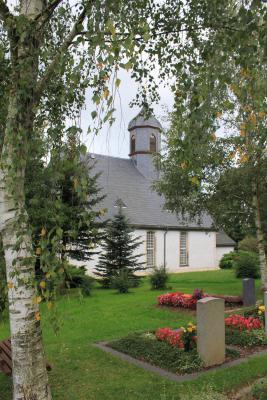 Die Kirche in Leukersdorf.
