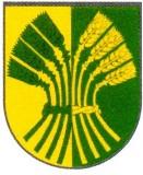 Wappenbeschreibung: Von Gold und Grün gespalten, belegt mit einem Ährenbündel aus 8 Ähren in verwechselten Farben