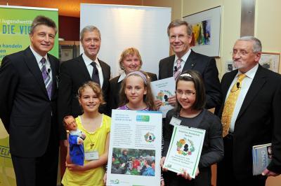 Bei der Verleihung des Deutschen Umweltpreises 2010.