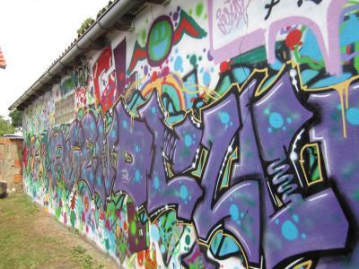 Groß Laasch Graffiti-Projekt im Jugendclub 2014