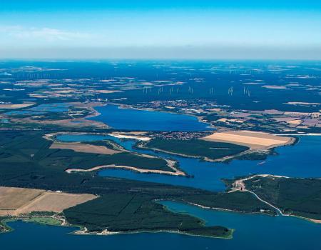 Luftaufnahme Großräschener See mit Sedlitzer See August 2019 P. Radke