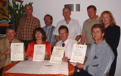 24.07.2005 Abschluss des Partnerschaftsvertrages in der Freibadgaststätte Zechin