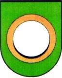 Wappenbeschreibung: In Grün ein goldener Ring.