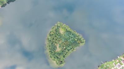 Lindwallinsel von oben (Foto: Gemeinde Grünheide (Mark))
