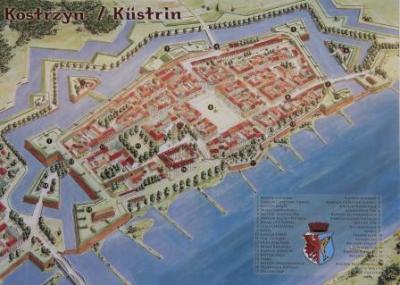 Festung Küstrin nach einer Zeichnung von Robert Jurga