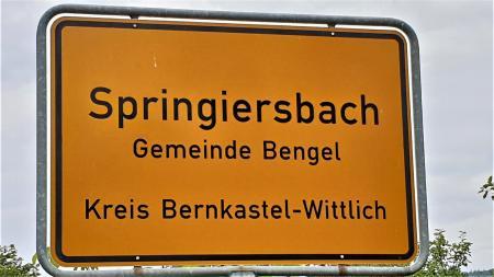 Ortsschild Springiersbach ©SonjaMüller