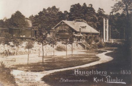 Historische Ansicht Bahnhof Hangelsberg 1853
