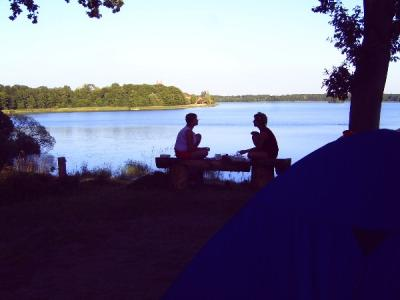 Zum schönsten Campingplatz gehts hin, denn der ist hier in Dobbertin.