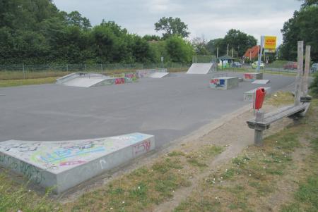 Basdorf Skateanlage Gesamtansicht, Foto: Gemeinde Wandlitz