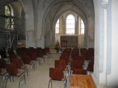 Alte Kirche in der Sanierungsphase