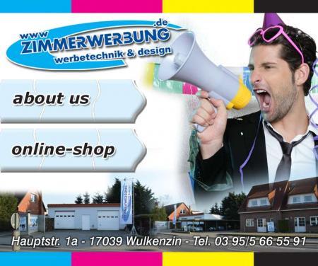 WEB- Werbeplakat des Unternehmens
