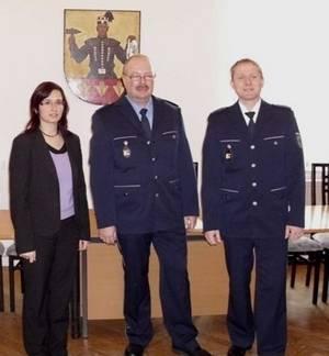 Offizielle Dienstpostenbestellung des Polizeiobermeisters Jens Stumpf