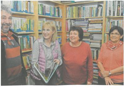 v. l. Bgm. Martin Hofmann, Andrea Höchenberger, Petra Becker, Regina Witzel Foto: D. Bechstein
