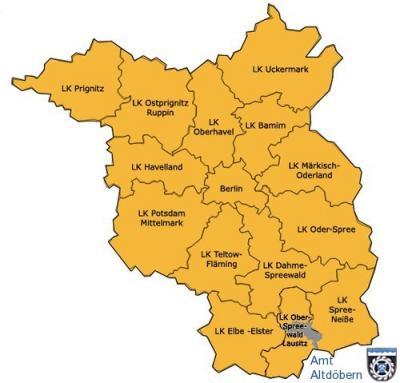 Karte Amtsgebiet
