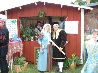 Frau Heiße und Herr Petschick vom Heimatverin Sonnewalde