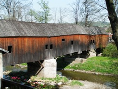 Holzbrücke in Wünschendorf/Elster