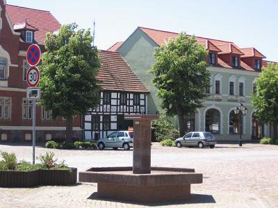 Marktbereich der Stadt Schönewalde