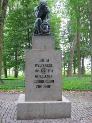 Den im Weltkriege 1914 - 1918 gefallenen Goldbergern zur Ehre