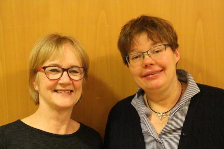 Doppelspitze mit Adelheid Schindler (links) und Martina Harbsmeier (rechts)