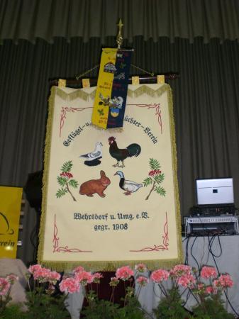 Vereinsfahne Foto: Geflügel- und Kaninchenzüchterverein