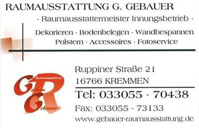 Raumausstatter wappen  kremmen.de - Raumausstattung Gebauer