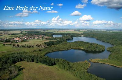 Blick auf die Falkenhagener Seen