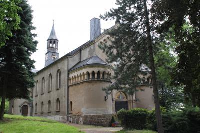 Die Lugauer Kirche.
