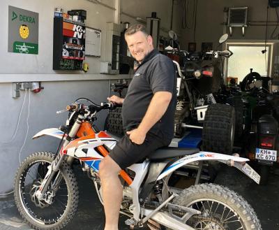 Zweiradmechanikermeister Marc Adam