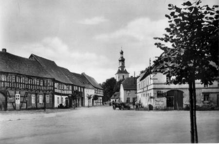 Wahrenbrück Marktplatz in den 1950er Jahren