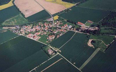 Luftbildansicht von Neu Eichenberg-Marzhausen