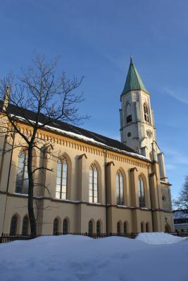 Die Kirche in Oberwiesenthal.